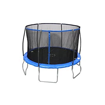 Sportspower Heavy Duty Outdoor Trampoline with Steelflex Enclosure Net and Poles – Meets or Exceeds ASTM Standards