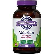 Oregon's Wild Harvest Non-GMO Organic Valerian Capsules Non Habit Forming Herbal Sleep Aid, Melatonin Free, 180Count