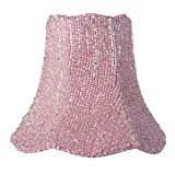 Jubilee Collection 92824 Glass Bead on Fabric Chandelier Shade, Pink