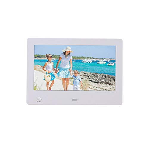 Linbing123 Digital Picture Frame 7 Inch - HD Video Digital Slideshow Picture Frame Electronic Picture Frame with Remote Control 720P HD Video ()