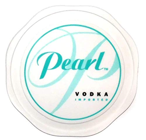 - Vintage Pearl Vodka Plastic Advertising Drink Coaster Barware