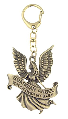 Pewter Guardian Angel Watch Over My Baby Medal on Clip, 3 Inch (Pendants Over Pewter)