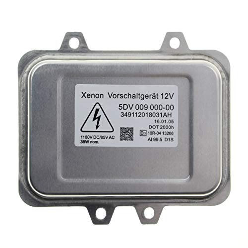 MOTOALL Xenon HID Headlight Ballast Control Unit Module Head Light for D1S D1R Bulb Lamp BMW 5-series E60 E60N E61 E61N E65 E66 7-series E70 X5 E71 E72 X6 63126937223 6937223 VW Volkswagen 5M0907391 (Bmw 540i Xenon Headlight)