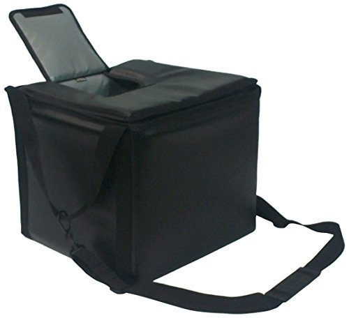 TCB Insulated Bags MB-HWK-Black Food and Beverage Carriers: Hawking Vending Bag with Dispensing Lid, 15.5'' x 15.5'' x 14'', Black by TCB Insulated Bags