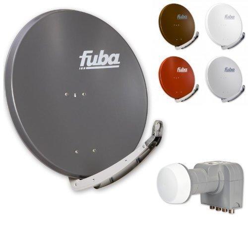 Fuba DAA 850 HD Sat Anlage - 4 Teilnehmer (m. DEK 416) - Sat Anlage bestehend aus Fuba DAA 850 in Ihrer Wunschfarbe + Fuba DEK 416 Quad LNB