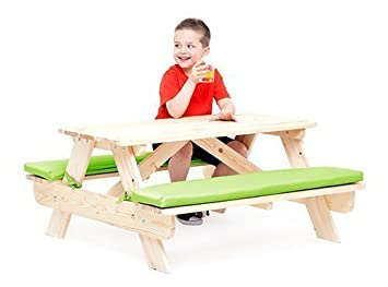 Stupendous Gardenista Outdoor Wooden Picnic Table Bench With Lime Andrewgaddart Wooden Chair Designs For Living Room Andrewgaddartcom