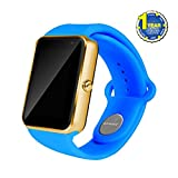 2017 Newest AIYIBEN Bluetooth Smart Watch with SIM Card Slot Smart Health Watch Independent Smart phone for Android IOS Smart watch. (Blue)