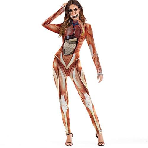 Women Halloween Cosplay Costume Jumpsuit Fancy 3D Rose