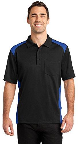 Cornerstone Tall Silk Touch Performance Polo Shirt, 2XL, Black/Royal