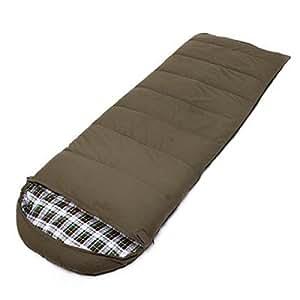 LBA - Saco de dormir para acampada, viajes, senderismo y otras actividades al aire libre, ligero y compacto, transpirable, verde