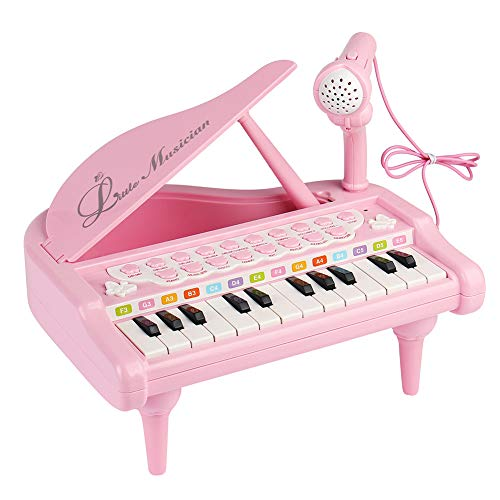 Conomus Piano Keyboard Toy for Kids,1 2 3 4 Year Old Girls First Birthday Gift , 24 Keys Multifunctional Musical Electronic Toy Piano for Toddlers by Conomus (Image #2)
