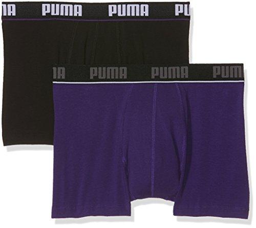 Sous Elastic Boxer noir Violet Basic Homme Puma Stripe vêtements 2p qxXSEAt