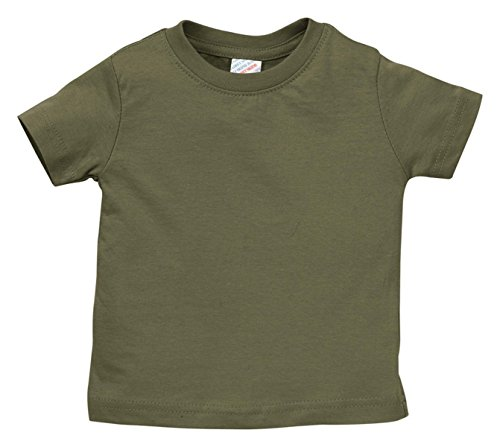 Rabbit Skins 3322 Fine Jersey Infant T-Shirt, Military Green, 18M (Military Four)