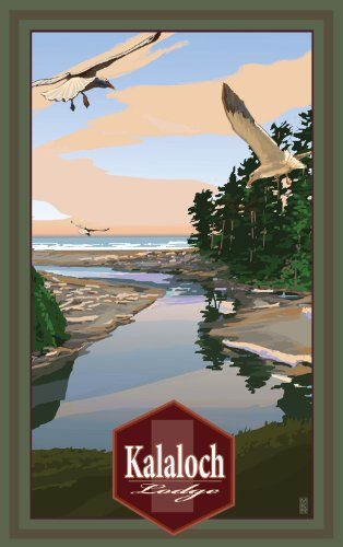 Northwest Art Mall MR-3728 Olympic National Park Kalaloch Lodge Bay 11 by 17-Inch Print by Mike Rangner