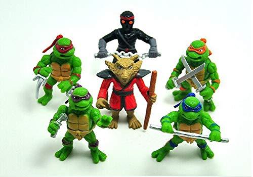 BRANDSALES TMNT Mini Teenage Mutant Ninja Turtles Vinyl Figures Cake Toppers (6 PCS) (Teenage Mutant Ninja Turtles Mini Action Figures)