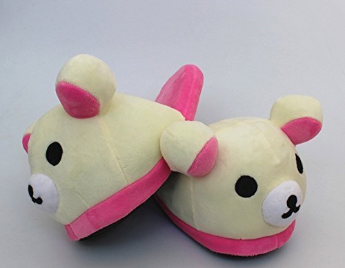 Fatflyshop - Rilakkuma Bear Cute Anime Cartoon Plush Indoor Bedroom Winter (Anime Bear)