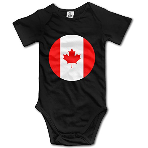 Price comparison product image Canada Flag1 Black Funny Short Sleeves Variety Baby Onesies Bodysuit For Babies Size 12 Months