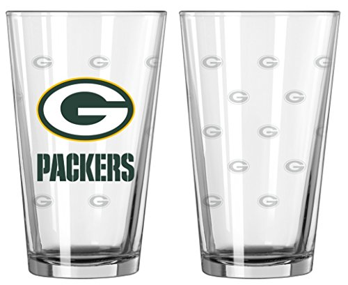 - Boelter Brands NFL Green Bay Packers Pint GlassSatin Etch 2 Pack, Clear, One Size