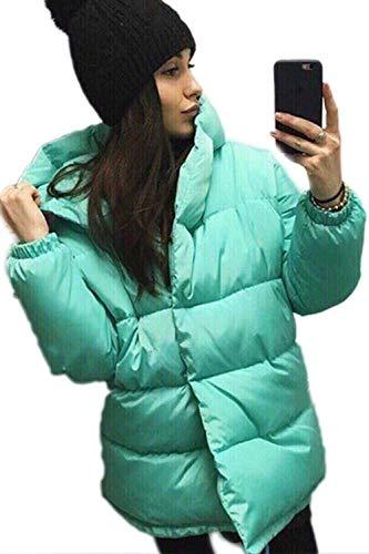 Uni Quilting Hiver Manches Chemine Blouson breal Casual Outerwear lgant Mode Manteau Fonc Chaud Long Capuchon Automne Bleu Transition Baggy Manche Femme Legere Stepp CwXqH