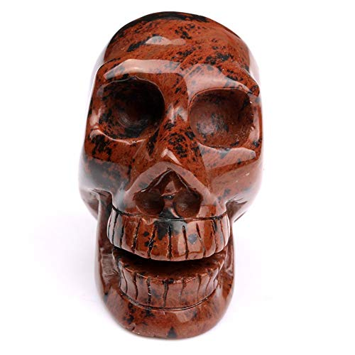 Head Head - 2.0 Quot Mahogany Jasper Stone Skull Natural Engraved Crystal Head Reiki Healing Crafts Skc081 - Headlight Headrush Behind Racket Skull Crafts Over Headphones Headphone Headband