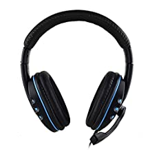Headband Gaming Headset Comfortable Wired Over-head Stereo Headphone With Mic Microphone Noise Cancelling for PS4 PC Tablet Laptop Smartphone
