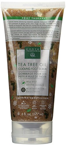 Tea Tree Oil Cooling Foot Scrub 6 fl. oz. by Earth Therapeutics