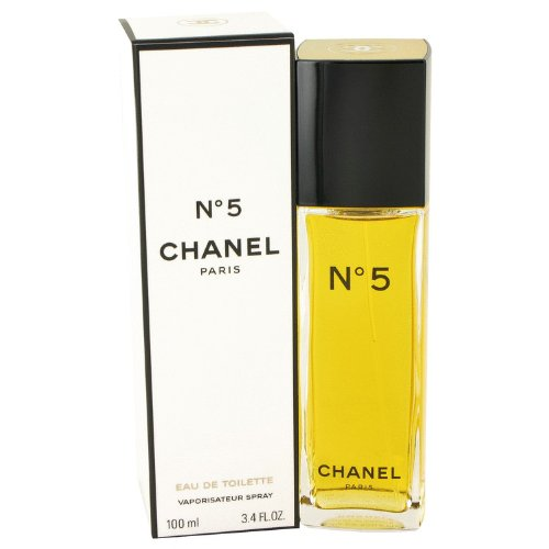 Chanel No 5 Eau De Parfum Spray (Chánel No. 5 Perfúme For Women 3.4 oz Eau De Toilette Spray + Free Curve Shower Gel)