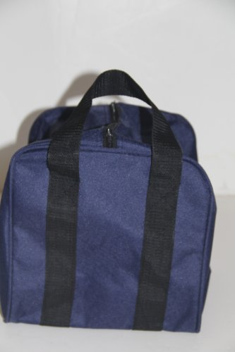 Heavy Duty Nylon Bocce Bag - Blue with Black Handles by BuyBocceBalls