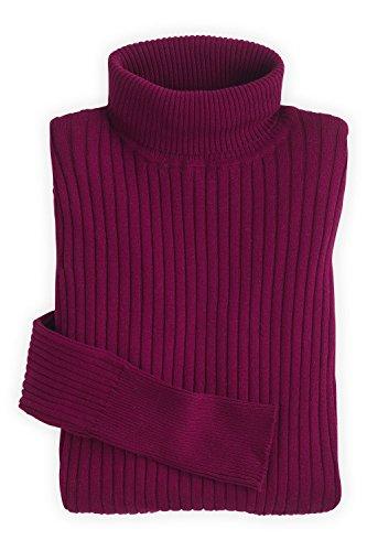 Indigo Ribbed Sweater (Fair Indigo Fair Trade Organic Ribbed Turtleneck Sweater (L, Boysenberry))