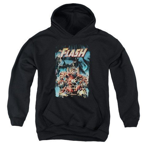 Price comparison product image Trevco Jla-Electric Chair Youth Pull-Over Hoodie, Black - Large