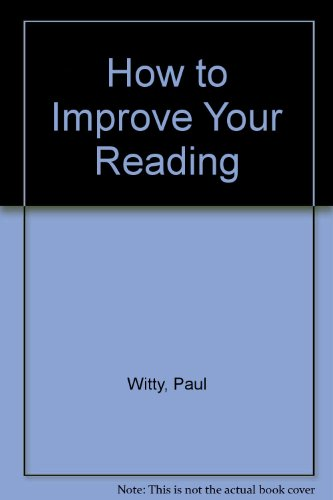 How to Improve Your Reading