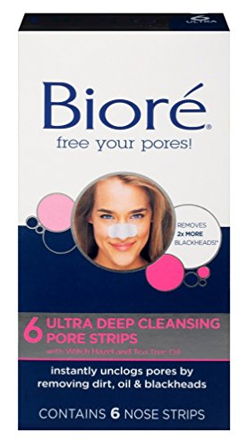 Biore Ultra Deep Cleansing Pore Strips, 6 Count (Pack of 2)