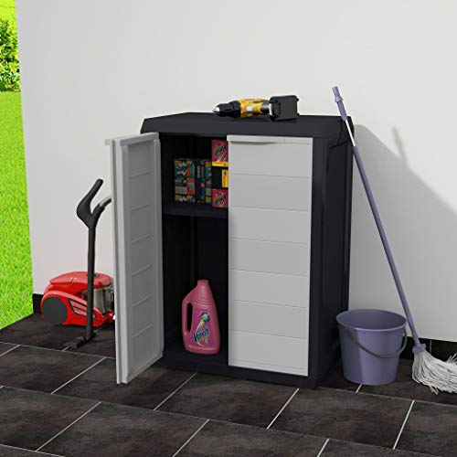 Festnight Outdoor Garden Storage Shed Indoor Storage Utility Cabinet Tool Shed with 1 Shelf