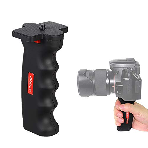 "Andoer Wide Platform Pistol Grip Camera Handle with 1/4"" Screw for SLR DSLR DC Canon Nikon Sony iPhone Xiaomi Smartphone"