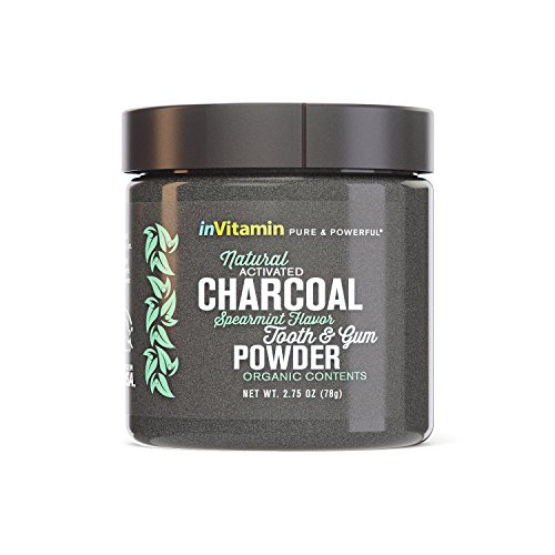 Natural Whitening Tooth & Gum Powder with Activated Charcoal (2.75 oz) (Spearmint)