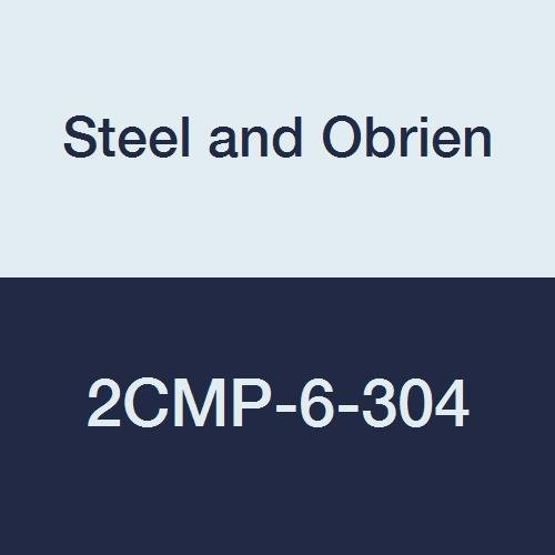Steel and Obrien 2CMP-6-304 Stainless Steel Clamp, 90 degree Elbow, 6