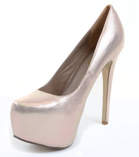 Bridal Wedding Iridescent Fourever Funky Pump Almond Toe Platform Stiletto Mesh vqtnEpw