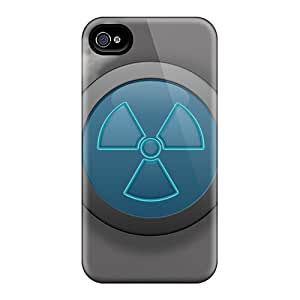 LJF phone case Premium Iphone 4/4s Case - Protective Skin - High Quality For Radiation Warning