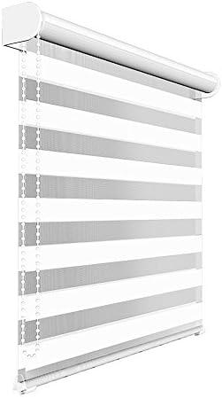Victoria M. Tenda a Rullo Doppia 140 x 175 cm Bianco, Tenda Giorno Notte