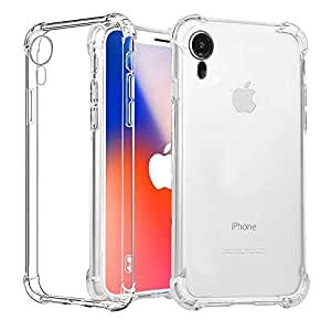 Tersely iPhone XR Case, Soft Clear Crystal Flexible Ultra Slim TPU Bumper Case Cover for Apple iPhone XR (6.1 INCH) Case with Shockproof Protective Cushion Corner [Compatible with Wireless Charger]- Clear