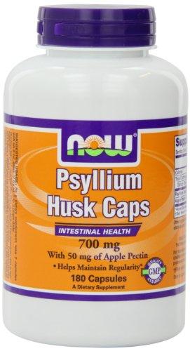 Ahora alimentos Psyllium cáscara de 700mg con pectina, cápsulas, 180-cuenta