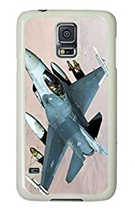 White Fashion Case for Samsung Galaxy S5,PC Case Cover for Samsung Galaxy S5 with Plane