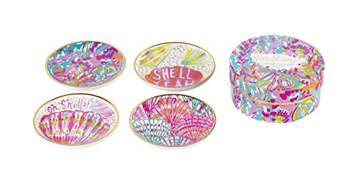 Lilly Pulitzer Ceramic Coaster Set, Scuba to Cuba (161612)