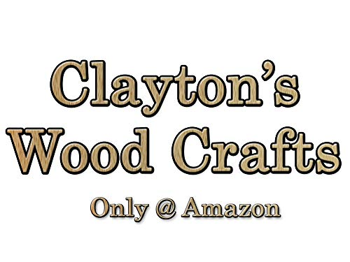 8'' Wavy Jumbo Fan Handles, Wooden Craft Sticks for Weddings - Clayton's Wood Crafts (2000) by Generic (Image #3)