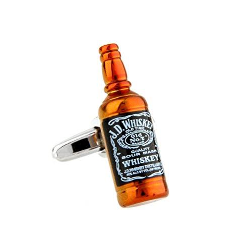 JD Whiskey Cufflinks Drinks Cuff Links Liquor Bottle