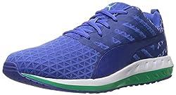 PUMA Women's Flare Q2 Filt WN'S Fitness Sneaker, Dazzling Blue/Mint Leather, 9.5 B US