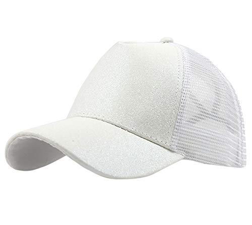 Gorra De Béisbol Moda Gorra De Béisbol con Purpurina Blanca Sólida ...