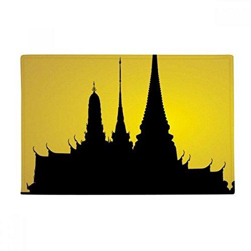Thai Customs Culture Shadow Temple Anti-slip Floor Mat Carpet Bathroom Living Room Kitchen Door 16''x30''Gift by BeatChong