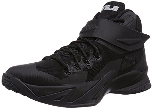 [Men's Lebron Soldier IX Basketball Shoe Black/Metallic Silver 11 D(M)Us=45Eu] (Ride Silver Shoes)