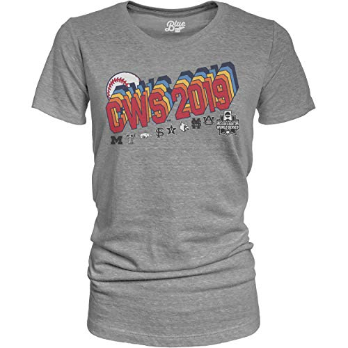 Tee College World Series - Blue 84 2019 Men's College World Series CWS 8 Team Women's Tri-Blend Gray T-Shirt (2XL)